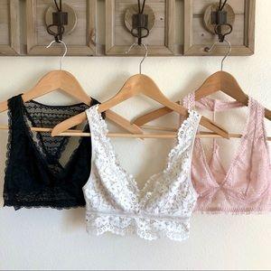 Victoria's Secret XS lace Bralette bundle